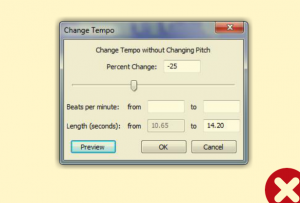 A layer showing the actual settings used.